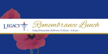 The Legacy Remembrance Lunch 2019 tickets