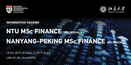 NTU MSc Finance & Nanyang-Peking MSc Finance Information Session tickets