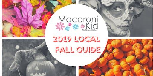 2019 Fall Guide for Fontana, Rialto, and Surrounding Cities