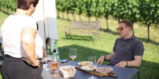 Degustazione vini e cibo locale in vigneto a Lazise