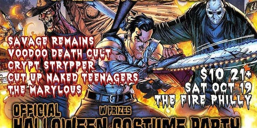 HPUSA Halloween Party w Savage Remains VDC Crypt Strypper