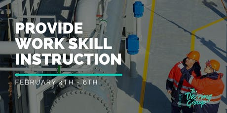 Provide Work Skill Instruction TAEDEL301 - February tickets