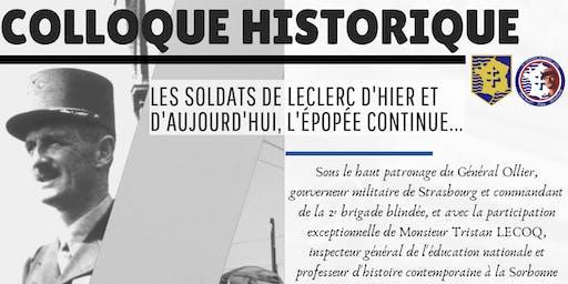 """Colloque Historique """"les soldats de Leclerc d'hier et d'aujourd'hui"""""""