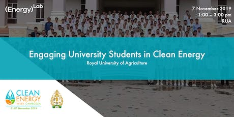 Engaging University Students in Clean Energy - RUA tickets