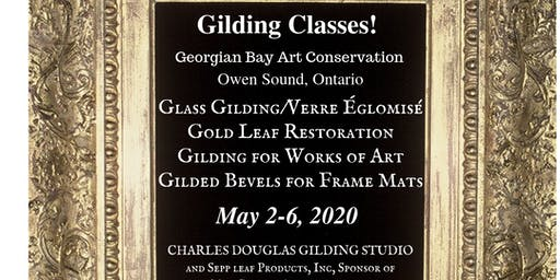 (Églomisé) Glass Gilding Class: The Foundation for Verre Églomisé (Owen Sound, Ontario)
