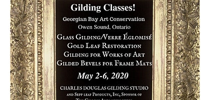 Gold Leaf Restoration & Gilded Bevel Frame Mats Class (Owen Sound, Ontario)