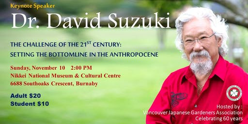 Dr. David Suzuki talks at VJGA's 60th Anniversary
