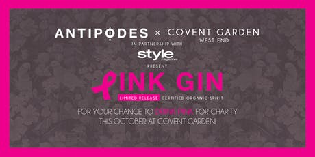 Drink Pink this October for Charity + Free Gin Masterclass at Covent Garden tickets