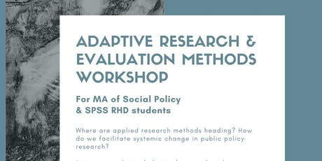 Adaptive Research and Evaluation Workshop tickets