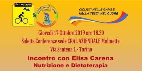 """Nutrizione e Dietoterapia - DAL DIVANO ALLA BICI IL """"PASTO"""" E' FACILE biglietti"""