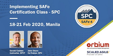 Implementing SAFe 5.0 - SPC Certification Class , Manila tickets