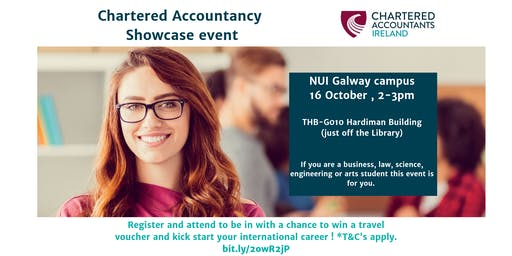 Chartered Accountancy,  showcase event - NUI Galway campus