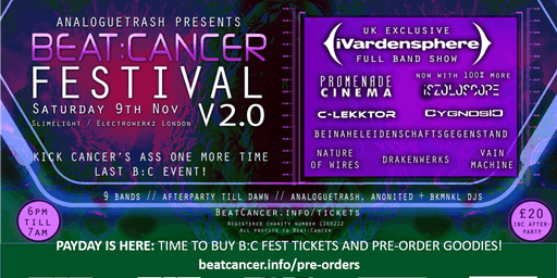Beat:Cancer Fest v2.0 feat. iVardensphere, C-Lekktor, Cygnosic + 6 more!