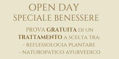 Open day speciale benessere. Prova gratuita di un trattamento.