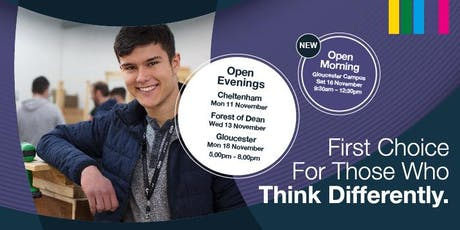 Gloucester Campus Open Morning - November 16th 2019 tickets