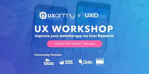 UX Workshop: Improve your website/app via User Research