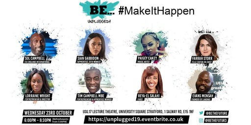 The Noon Centre & UEL Enterprise present BE... Unplugged 2019