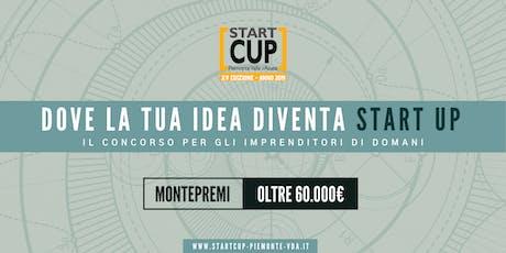 Premiazione START CUP Piemonte Valle d'Aosta 2019 biglietti