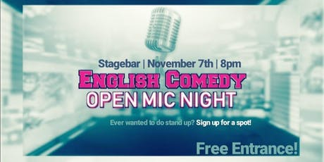 English Comedy | Open Mic Night @stagebar tickets