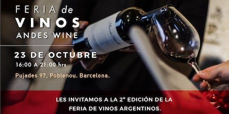 Feria de vinos Andes Wine entradas