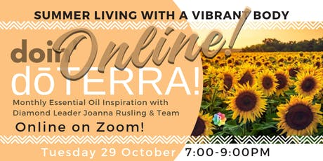 ONLINE doin' dōTERRA - Summer Living with a Vibrant Body tickets