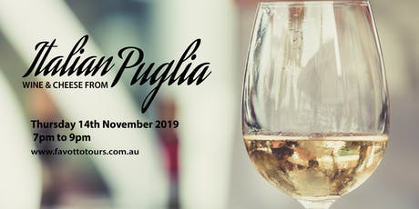 Italian Wine & Cheese pairing – From  Puglia tickets