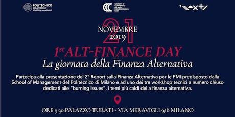 1° Alt-Finance Day - La giornata della Finanza Alternativa biglietti