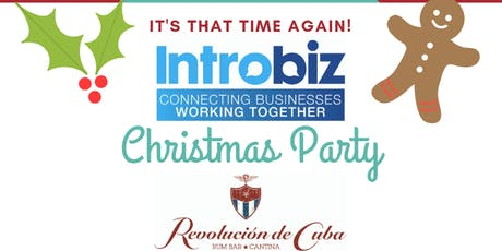 Introbiz Christmas Party At Revolucion De Cuba tickets