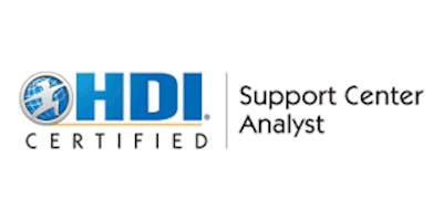 HDI Support Center Analyst 2 Days Training in Eindhoven