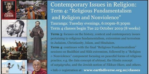 Tauranga Religious Fundamentalism & Religion and Nonviolence class
