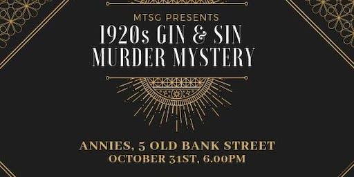 1920s Gin & Sin Murder Mystery - Thursday 31 October 2019