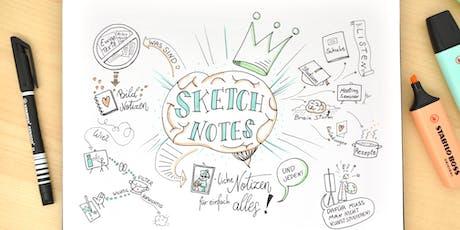 Sketchnotes - bildliche Notizen für einfach alles! Tickets
