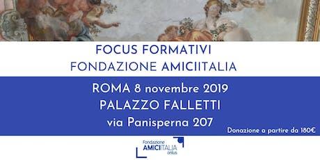Focus Formativi Fondazione AMICIITALIA Onlus biglietti