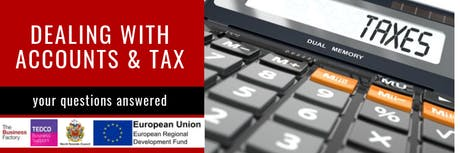 Dealing with Accounts and Tax | Tuesday 29th Oct at 9.30am tickets