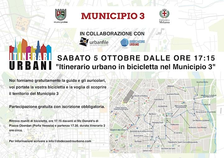Immagine Itinerario Urbano in bici nel Municipio 3