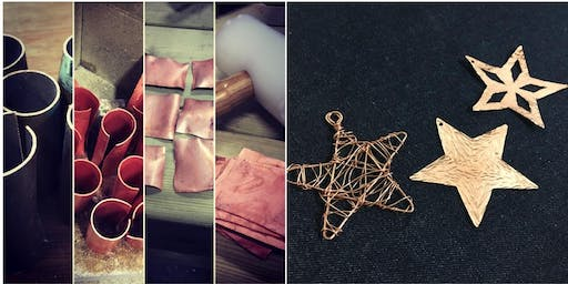 Christmas decorations from reclaimed copper