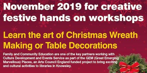 Christmas Wreath & Table decorations