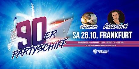"""90er Partyschiff mit AQUAGEN """"live"""" DJ Set - Frankfurt Tickets"""