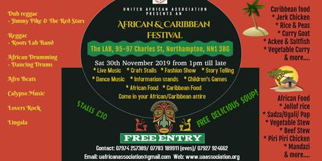 Artists wanted for African and Caribbean festival tickets
