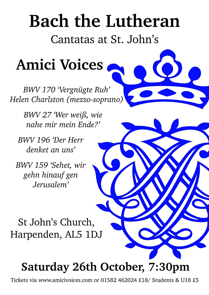 Bach the Lutheran: Cantatas with Amici Voices image