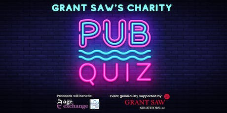 Grant Saw Charity Pub Quiz in support of  Age Exchange +Alzheimer's Society tickets