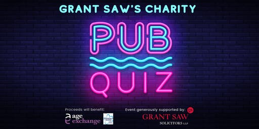 Grant Saw Charity Pub Quiz in support of  Age Exchange +Alzheimer's Society