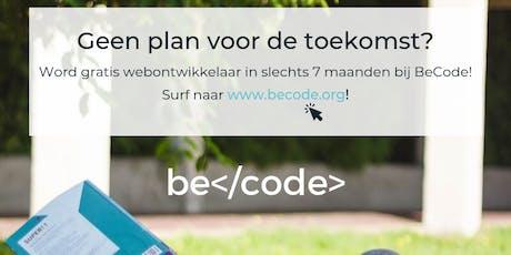 Finale infosessie BeCode Antwerpen tickets