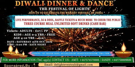 DIWALI DINNER & DANCE tickets
