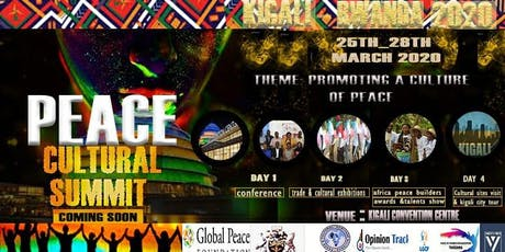 PEACE CULTURAL SUMMIT 2020 tickets