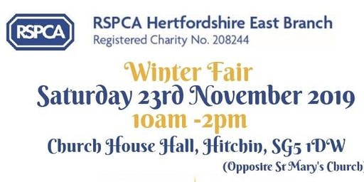 RSPCA Hertfordshire East Branch Winter Fair 2019