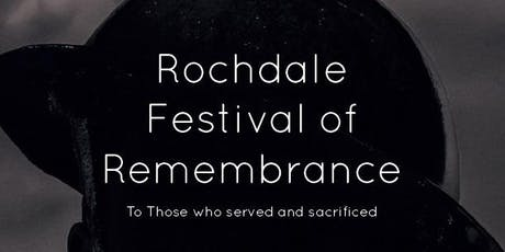Rochdale Festival of Remembrance 2019  tickets