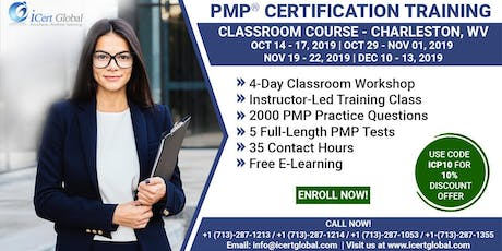 PMP® Certification Training Course in Charleston, WV, USA. tickets