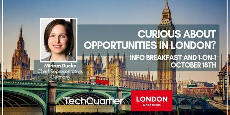 London & Partners Info Breakfast tickets