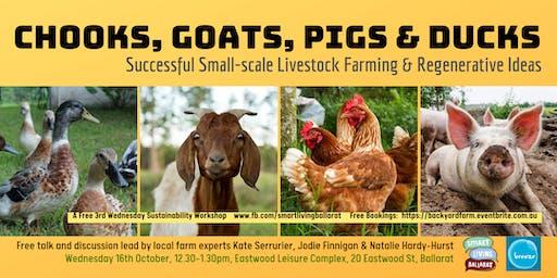 Successful Small-Scale  Livestock Farming FREE TALK Smart Living Ballarat